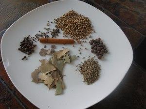 ingrédients pour garam masala