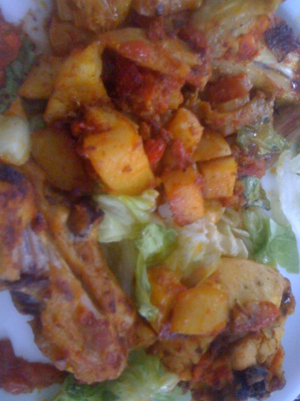 Poulet dopiaza - Chicken Dopiaza